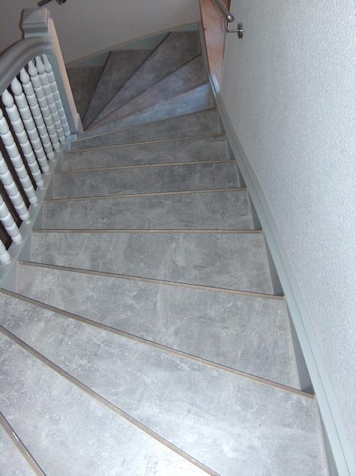 Treppenhaus renoviert